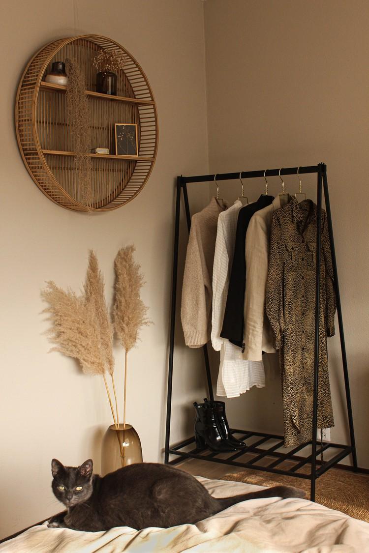 beige slaapkamer aardetinten