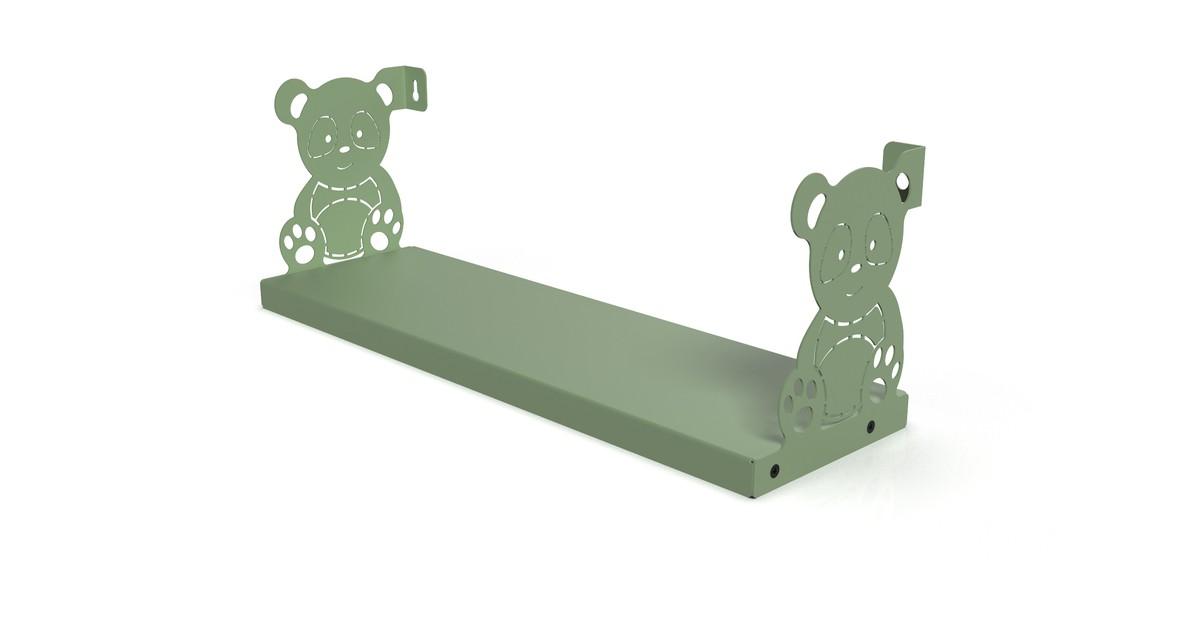 Gorillz Kids Panda- Boekenplank Kinderkamer - Pastel Groen