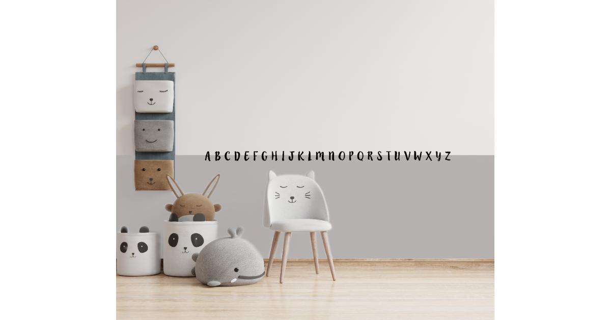 Muursticker ABC sierlijk - Groot (120 cm breed)