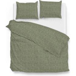 Zo Home Dekbedovertrek Katoen Lino Linnen Look - army green 140x200/220cm