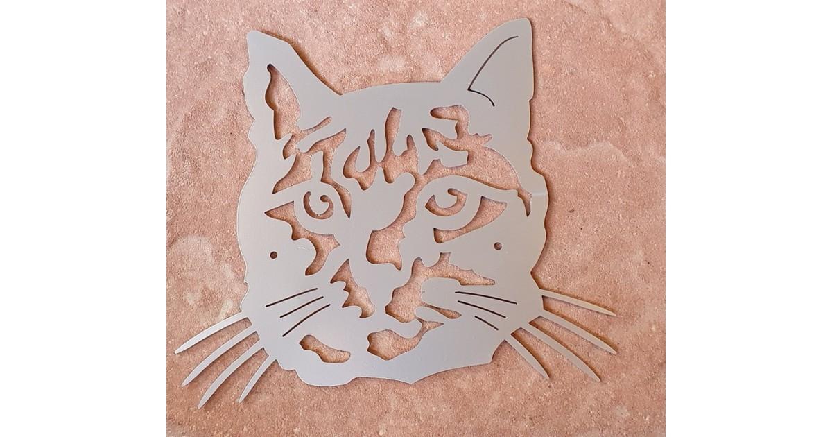 Wanddecoratie silhouette kattenkop