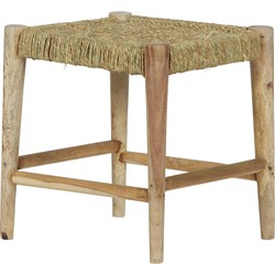Wicker Kruk Hout/geweven Touw Naturel
