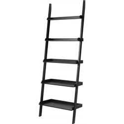 Boekenkast ladder - Noah - Breed - Zwart