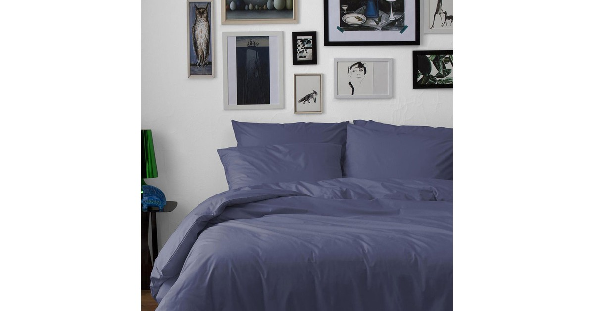 Damai Dekbedovertrek Uni Katoen Dark Blue-200x200/220