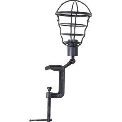 Light&Living Tafellamp klem CADIR zwart 44 x Ø15