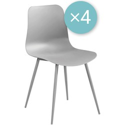 Fury stoel - grijs - set van 4