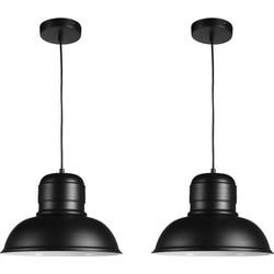 Helsinki - Zwart- Set van 2 hanglampen
