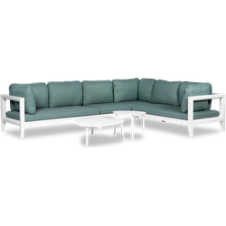 Lanterfant® Sophie - Loungeset - Turquoise - Aluminium - 6 personen