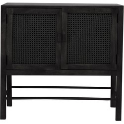 Wandkast Nipas - Zwart hout - 88 x 40 x 84 cm