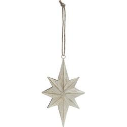 Kerstornament vallende ster - Wit - 20 cm - PTMD