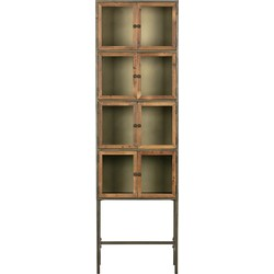 BePureHome Box Vitrinekast - Metaal/Hout - Natural - 186x56x38