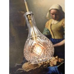 Hanglamp glas Brussels transparant/goud, druppel