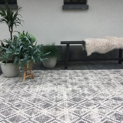 Buiten vloerkleed Frost - Grijs/Wit -  dubbelzijdig - EVA Interior - 120 x 170 cm - (S)