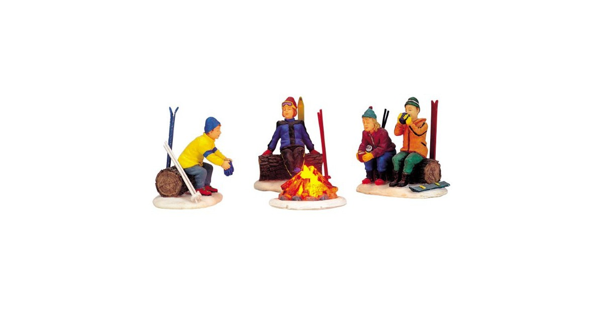 Skiers' camp fire LEMAX