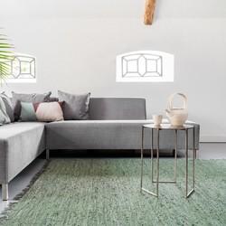 Leren Vloerkleed Groen - Buffalo - 80 x 150 cm - (XS)