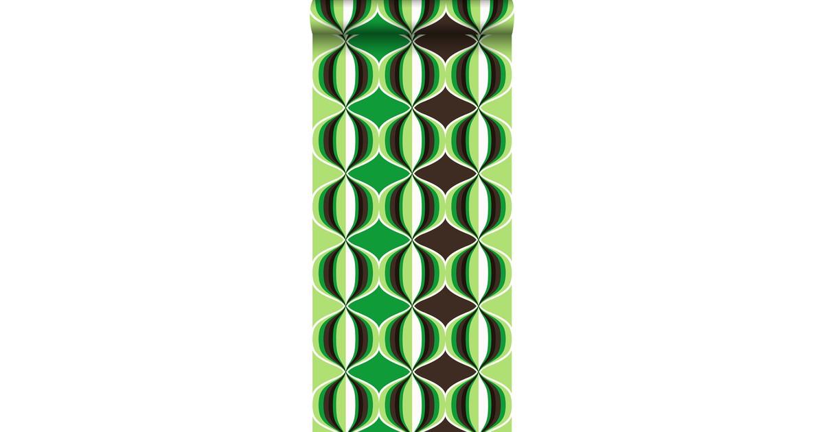 ESTAhome behang grafisch motief groen