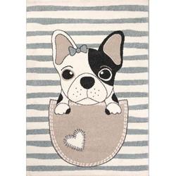 Kindervloerkleed Blauw kinderkamer - Hond
