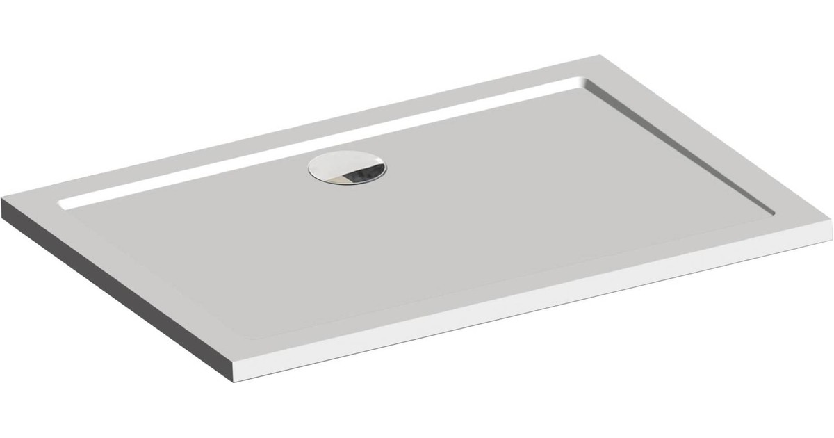 Sealskin Fusion inbouw douchebak rechthoek 120x90cm Wit