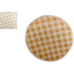 Tuintapijt gerecycled plastic rond met ruitjespatroon.