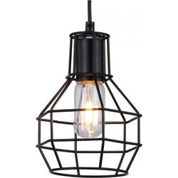 Groenovatie Vintage Hanglamp Zwart Cage Design