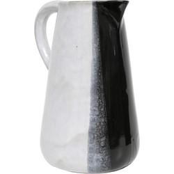 HKliving kan wit met zwarte dip 20x16x25,5cm