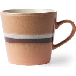 HKliving cappuccino mok stream seventies stijl  300 ml