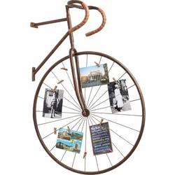 wanddecoratie memo houder fiets roest