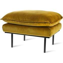 HKliving retro sofa hocker, velvet, ochre