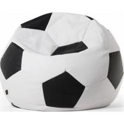 Loungiez Zitbal Voetbal Extra Groot - Zwart-Wit
