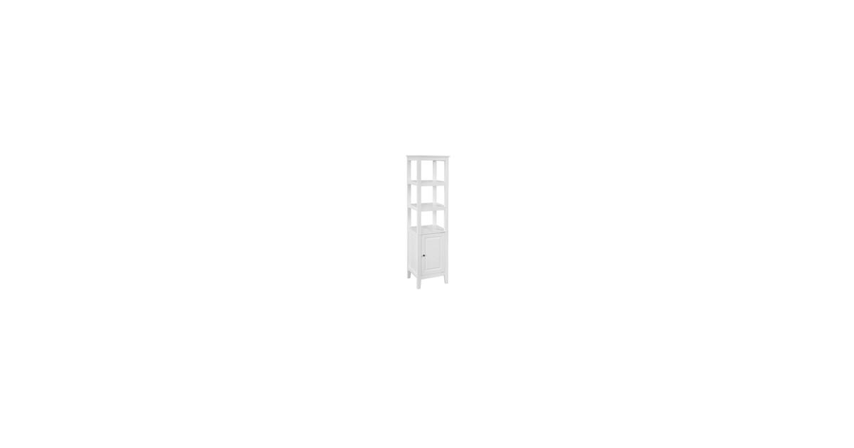 Simpletrade Badkamerkast - Opbergkast - 3 schappen - Hout - 40x150x33 cm