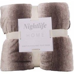 Nightlife - Plaid - Faux fur - Lycra / elastaan - Bruin
