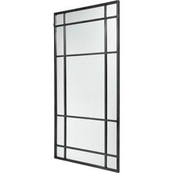 Nordal SPIRIT wandspiegel met stalen frame zwart 204cm x 102cm