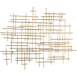 Casa Vivante libra muurhanger goud maat in cm: 77 x 62,5