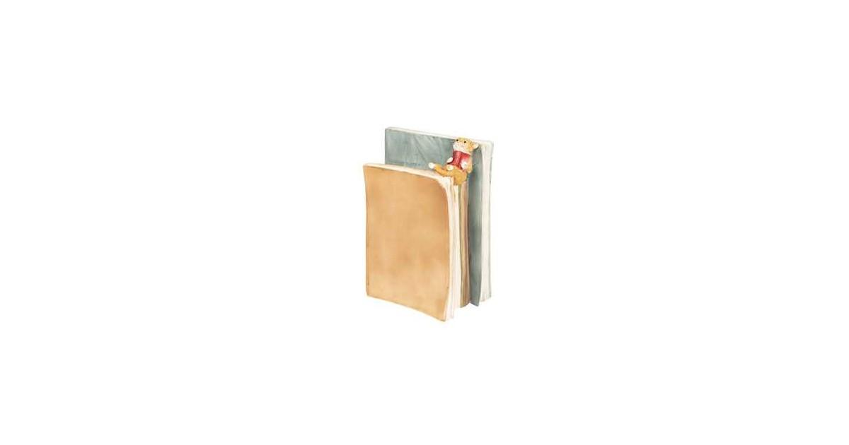 Clayre & Eef Decoratie Beeld Boek 14*8*19 cm Meerkleurig Polyresin Decoratief Figuur Decoratieve Accessoires