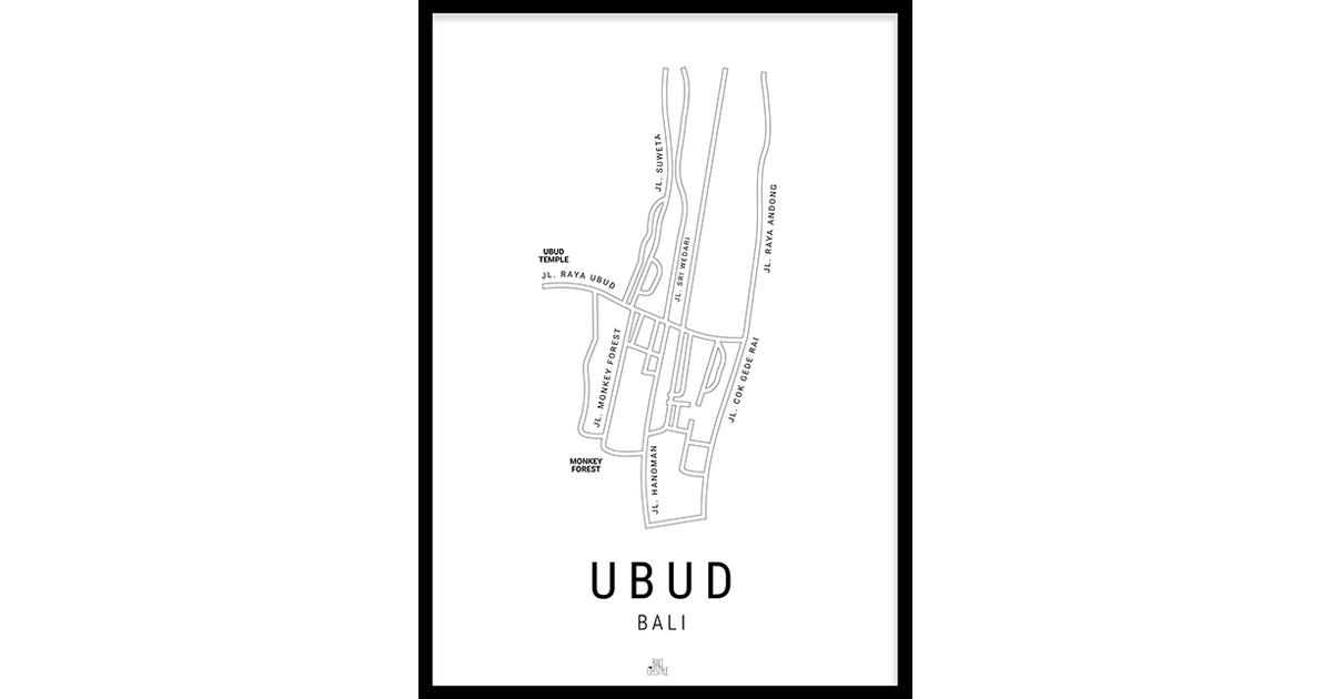 Ubud Kaart (21x29,7cm)