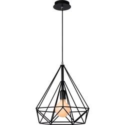 Lucide Hanglamp Ricky - Ø36.5 Cm - H39 Cm - Zwart