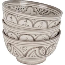 Marokkaanse kom grijs wit patroon