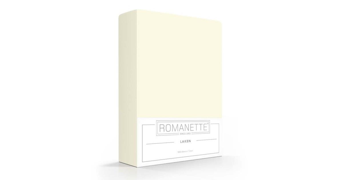 Katoenen Lakens Romanette Ivoor-240 x 260 cm