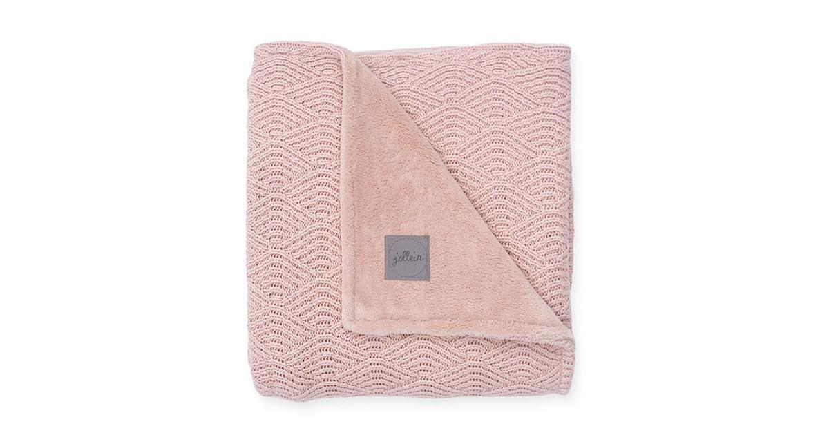 Jollein wiegdeken roze fleece (100 centimeter x 150 centimeter)