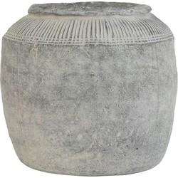 HK-living bloempot cement afwerking grijs large 29x29x28cm