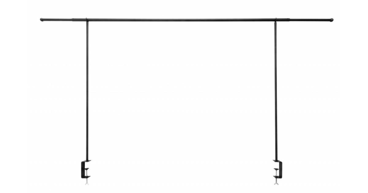 Table display rack, black