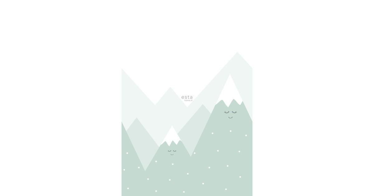 ESTAhome fotobehang bergen mintgroen
