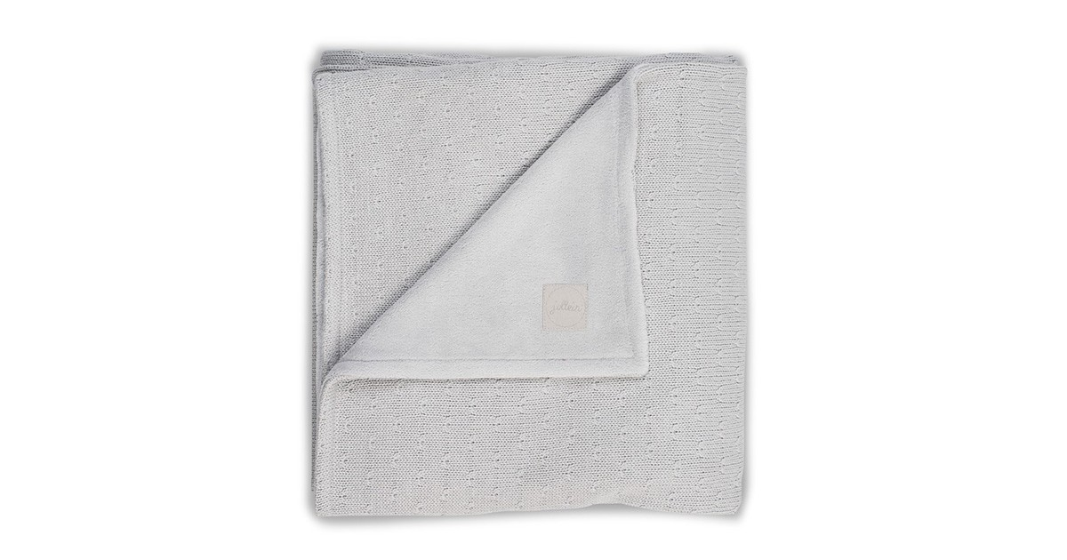 Jollein Deken Soft Knit Teddy 75x100cm Light Grey