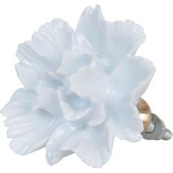 Deurknop - Ø 5*3 cm - wit - keramiek - bloem - Clayre & Eef - 63106