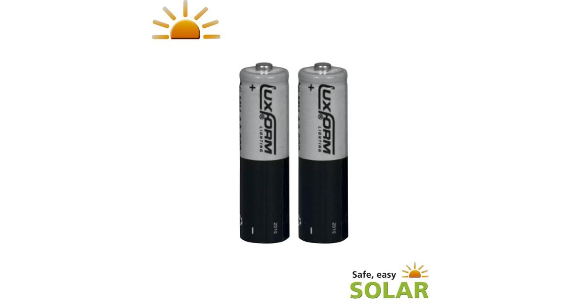 Luxform Oplaadbare Solar Batterij AA 2stuks