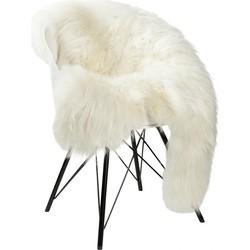 Schapenvacht ijslands wit  90-110cm lengte / 60-70cm breedte