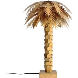 messing palm tafellamp goud 45x45x68cm