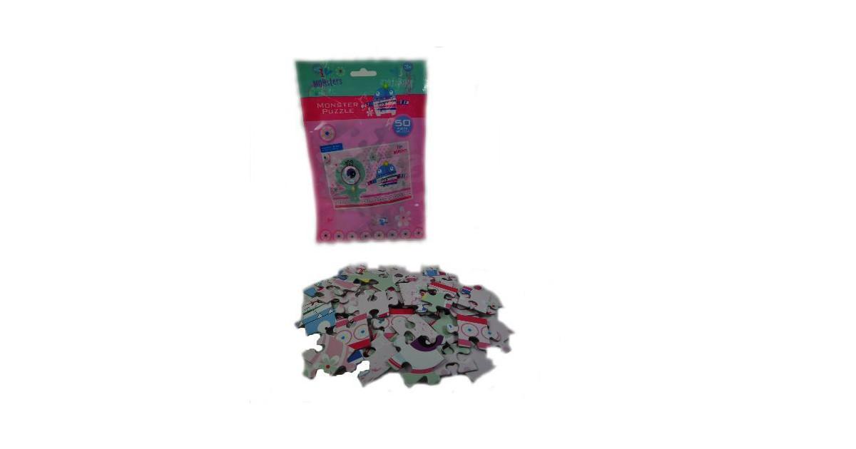 6 Stuks - Puzzels - I Love Monsters Puzzels - 50 stukjes - Uitdeelcadeautjes - Uitdeel Traktatie voo