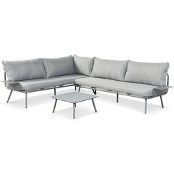 Lanterfant Loungeset Beau – Antraciet – Tafel in leuning – Aluminium