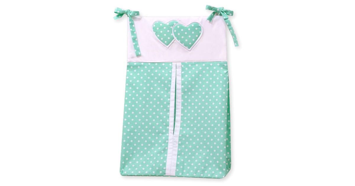 My Sweet Baby Luierzak Two Hearts Dots/Mint